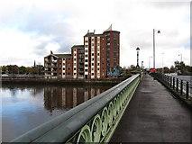 J3573 : Pottinger's Quay Apartments from the Albert Bridge by Eric Jones