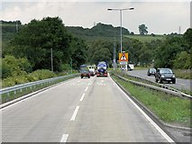 SJ8542 : Stoke D Road (A500) Approaching Junction with the M6 by David Dixon