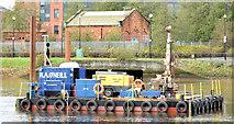 J3473 : Survey barge, River Lagan, Belfast - November 2014(3) by Albert Bridge