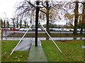 H4573 : End of zip wire, Grange Park by Kenneth  Allen