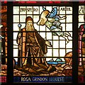 SJ8397 : Prospero and Ariel, Manchester Central Library Shakespeare Window by David Dixon