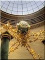 SJ8397 : Clock and Oculus, Manchester Central Library Reading Room by David Dixon