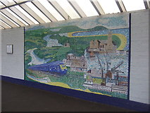 SW8132 : Mosaic, Falmouth Docks Railway Station by JThomas