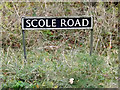 TM1978 : Scole Road sign on the A143 Scole Road by Adrian Cable