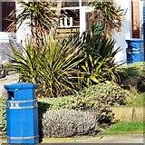 SD3128 : Blue litter bins by Gerald England