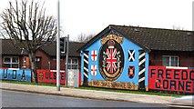 J3574 : Loyalist murals at Ulster's Freedom Corner, Lower Newtownards Road by Eric Jones