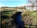 SS9483 : Wooden footbridge over a stream, Heol-y-cyw by Jaggery