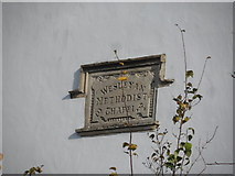 SP6517 : Plaque on former Wesleyan chapel, Ludgershall by Bikeboy