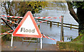 "J3067 : ""Flood"" sign, Drumbeg, Dunmurry - November 2014(1) by Albert Bridge"