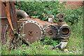 SJ4083 : Garston Ship Breakers yard - marine steam engine by Chris Allen