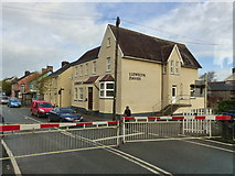 SN1916 : Level crossing gate at Whitland Station - as seen from the train by Ruth Sharville
