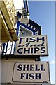 SS5247 : Fish & Chips shop signs by David Lally