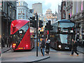 TQ2980 : New Routemasters at Piccadilly by Oast House Archive