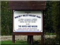 TM1983 : Waveney Valley Holiday Park sign by Adrian Cable