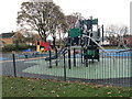 SE2819 : Play Area - Illingworth Park - viewed from Fairfield Drive by Betty Longbottom