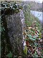 SD4778 : Cut bench mark on boundary stone, Creep-i'-th'-call Bridge by Karl and Ali