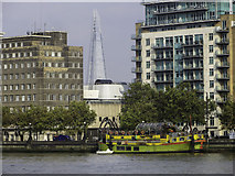 TQ3078 : A glimpse of the Shard by Chris Denny
