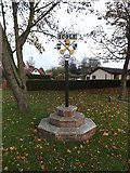 TM1578 : Scole Village sign by Adrian Cable