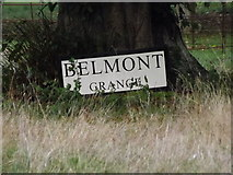 TM1578 : Belmont Grange sign by Adrian Cable