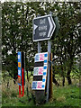 TM1478 : Roadsign on the A143 Old Bury Road by Adrian Cable