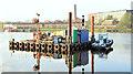 J3473 : Survey barge, River Lagan, Belfast - November 2014(5) by Albert Bridge