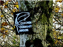 H5371 : Camowen Community Anglers sign, Bancran by Kenneth  Allen