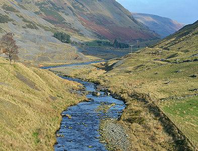 SN7974 : The Afon Ystwyth leaving the mines by Nigel Brown