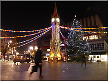 SK5804 : Christmas lights at The Haymarket Memorial Clock Tower by Mat Fascione