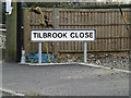 TM2274 : Tilbrook Close sign by Adrian Cable