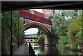 SJ8397 : Railway Bridge over the Rochdale Canal by N Chadwick