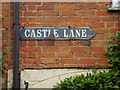 SP2864 : Enamel street nameplate, Castle Lane, Warwick by Robin Stott