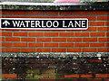 TM1478 : Waterloo Lane sign by Geographer