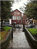 SK3871 : St Mary's Churchyard, Chesterfield, Derbys. by David Hallam-Jones