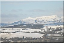 SO2718 : Winter View of the Sugar Loaf and Ysgyryd Fawr by Peter Randall-Cook