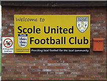 TM1579 : Scole United Football Club sign by Adrian Cable
