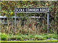 TM1579 : Scole Common Road sign by Adrian Cable