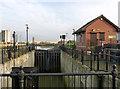 TF3242 : Black Sluice Lock by Alan Murray-Rust