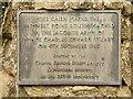 SK3628 : Jacobite Cairn Inscription by David Dixon
