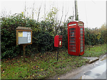 TM1583 : Telephone Box & Dickleburgh Road Postbox by Adrian Cable