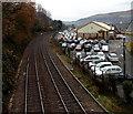 ST0790 : Goods Yard Car Park, Pontypridd by Jaggery