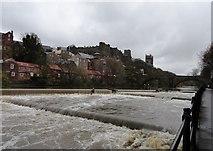 NZ2742 : River Wear at Durham after heavy rain by Robert Graham