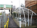 TQ3358 : Whyteleafe station cycle rack by Stephen Craven
