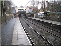 SD8203 : Heaton Park railway station (site) / Metrolink tram stop, Greater Manchester by Nigel Thompson