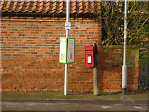 SK6889 : Mattersey Thorpe postbox ref DN10 148 by Alan Murray-Rust