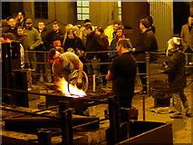 SJ6903 : Blists Hill Victorian Town - blacksmith demonstration by Chris Allen