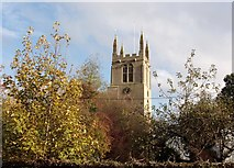 TF0920 : Autumn at the Abbey Church, Bourne, Lincolnshire by Rex Needle