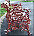 NS4864 : Ornate cast iron bench in Fountain Gardens by Thomas Nugent