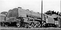 TQ2182 : Stanier 'Princess Coronation' 8P at Willesden Shed, 1947 by Ben Brooksbank