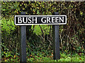 TM2087 : Bush Green sign by Adrian Cable