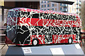 TQ3785 : Bus Art, 'Time Travel' by Oast House Archive